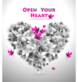 Open Your Heart vector image