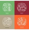 set of logos biology physics chemistry vector image