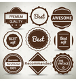 Vintage Labels vector image