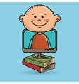 kids screen book icon vector image