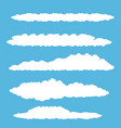 white summer clouds set isolated on blue vector image