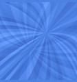 Blue curved ray burst background - vector image