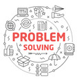 line flat circle problem solving vector image