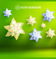 artificial flowers background vector image