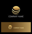 round globe abstract planet gold logo vector image
