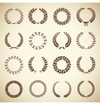 Collection of vintage laurel wreaths vector image vector image