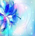 beautiful abstract background with flowers vector image