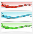 Bright swoosh lines cards set - templates vector image