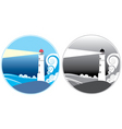 lighthouse icons vector image