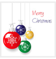 shiny colorful christmas decoration baubles vector image