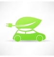 green eco car icon vector image