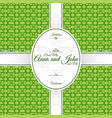 invitation card with green geometric pattern vector image