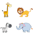 Jungle Animals Collection vector image