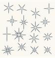 line sparkling symbols black color vector image