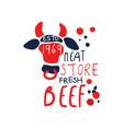 meat store logo template premium beef vintage vector image