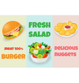 Mix fast food vector image