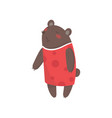 smiling female bear dressed in human clothes vector image