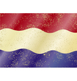 Dutch grunge flag vector image vector image