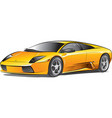 yellow expensive car vector image vector image