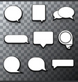 modern halftone bubble speech icon set vector image vector image