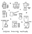 coffee brewing methods vector image
