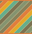 retro colors diagonal lines background abstract vector image vector image