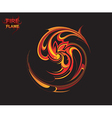 Flame tribal background vector image