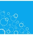 Abstract background with white circles on blue vector image