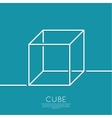 cube on a blue background vector image
