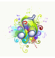 colorful music notes vector image vector image