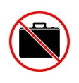 No case sign icon vector image