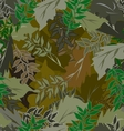 seamless camouflage leaves different 1 vector image