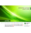 Desk Line Calendar for 2017 Year Design Print vector image