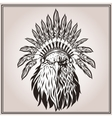 American Eagle ethnic Indian headdress feathers vector image