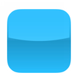 Blue glossy button blank icon square empty shape vector image