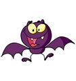 Cartoon Character Happy Bat vector image