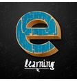 E-learning logtype design vector image