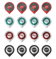 Flat icons collection for marker preloaders vector image