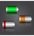 Modern battery vector image