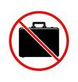 No case sign icon vector image