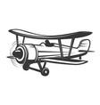 Vintage aeroplane isolated on white vector image