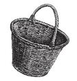 wicker basket logo design template vector image