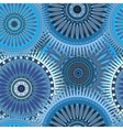 Seamless blue pattern with oriental mandalas vector image