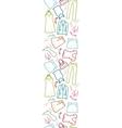 Wardrobe clothing vertical seamless pattern border vector image