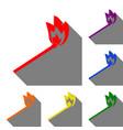 match sign set of red orange vector image