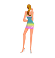rear view of woman vector image vector image