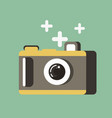 small photo camera vector image