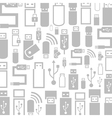 Usb a background vector image