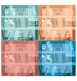 educational background collection vector image