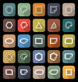 Label line flat icons with long shadow vector image vector image